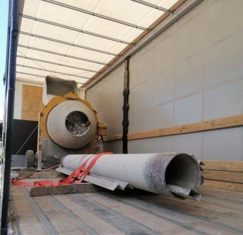 Transport de matériel de chantier (Longueurs : cornières, tuyaux) depuis Grenoble et Lyon vers votre chantier toute France